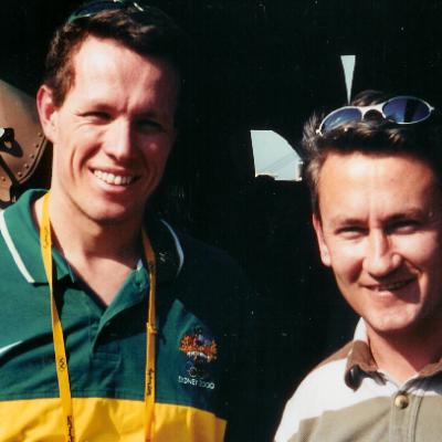With Kierin Perkins Sydney 2000